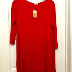 NWT Fanfare Red dress size SM